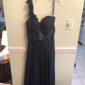 Navy blue, Bill Levkof bridesmaids dress